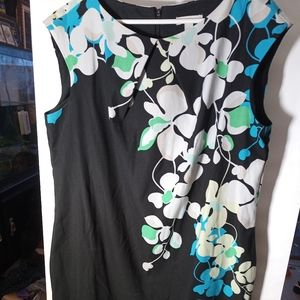 New York & Company size 18 black with Floral Dress